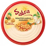 Sabra Roasted Garlic Hummus and Snack Factory Garlic Parmesan Pretzel Crisps